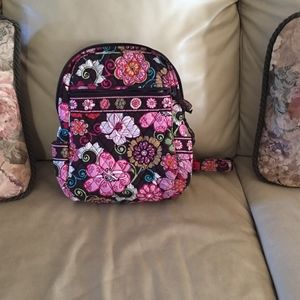 Vera Bradley medium brown & pink backpack